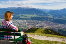 Hungerburgbahn ground-Alpy Tyrol Innsbruck-capital-view-panorama-inn-Tyrol