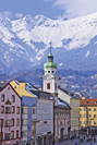 Innsbruck, Áustria Tirol alpino cidade-estado capital Insbruck-golden-Dachl-maria-theresien-road