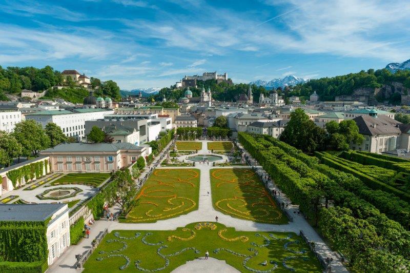 mozart miesto apylinkės Salzburg-gimimo namų Mozarto gimtinė-salisburgo-Hellbrunn-Mirabell-Salzburg-Austrija