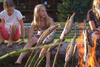 steckerlfisch-fire-children-childs-grill-fish-angerberg-fun-park-animals-dogs
